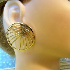 art design pierced earring statement bold glam
